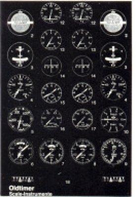 Oldtimer-Scale-Instrumente, selbstklebend, Maßstab 1:3,5